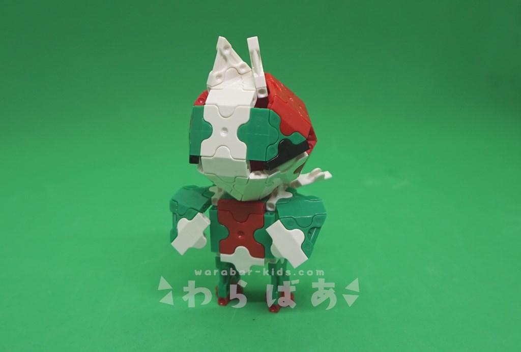 LaQで仮面ライダーV3の作り方01