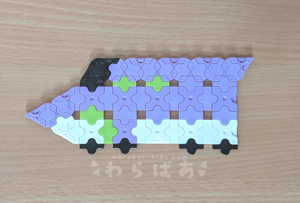 LaQで新幹線(しんかんせん)の作り方03