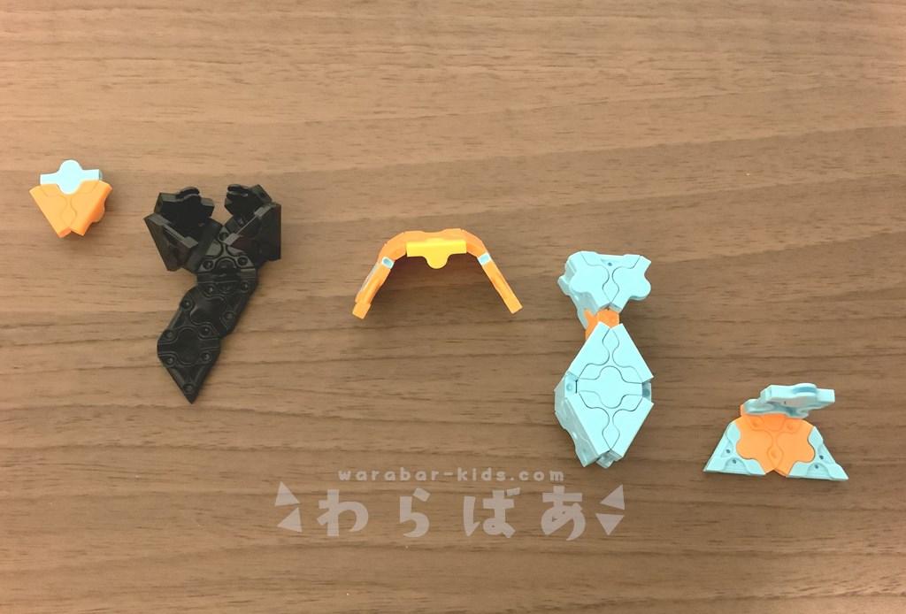 LaQ(ラキュー)アラジンのジャスミン作り方【ディズニープリンセス】07